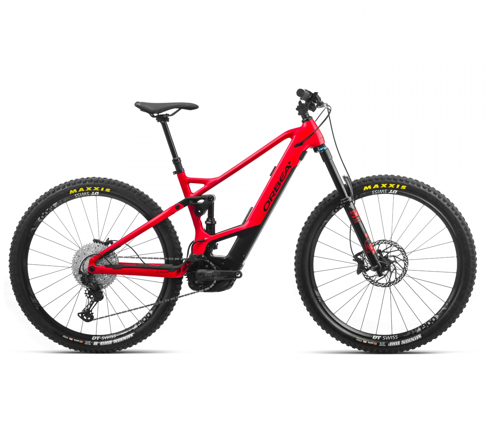 ORBEA WILD FS H15 eBike - BRIGHTRED /ZWART (DOF) @G-Bikes