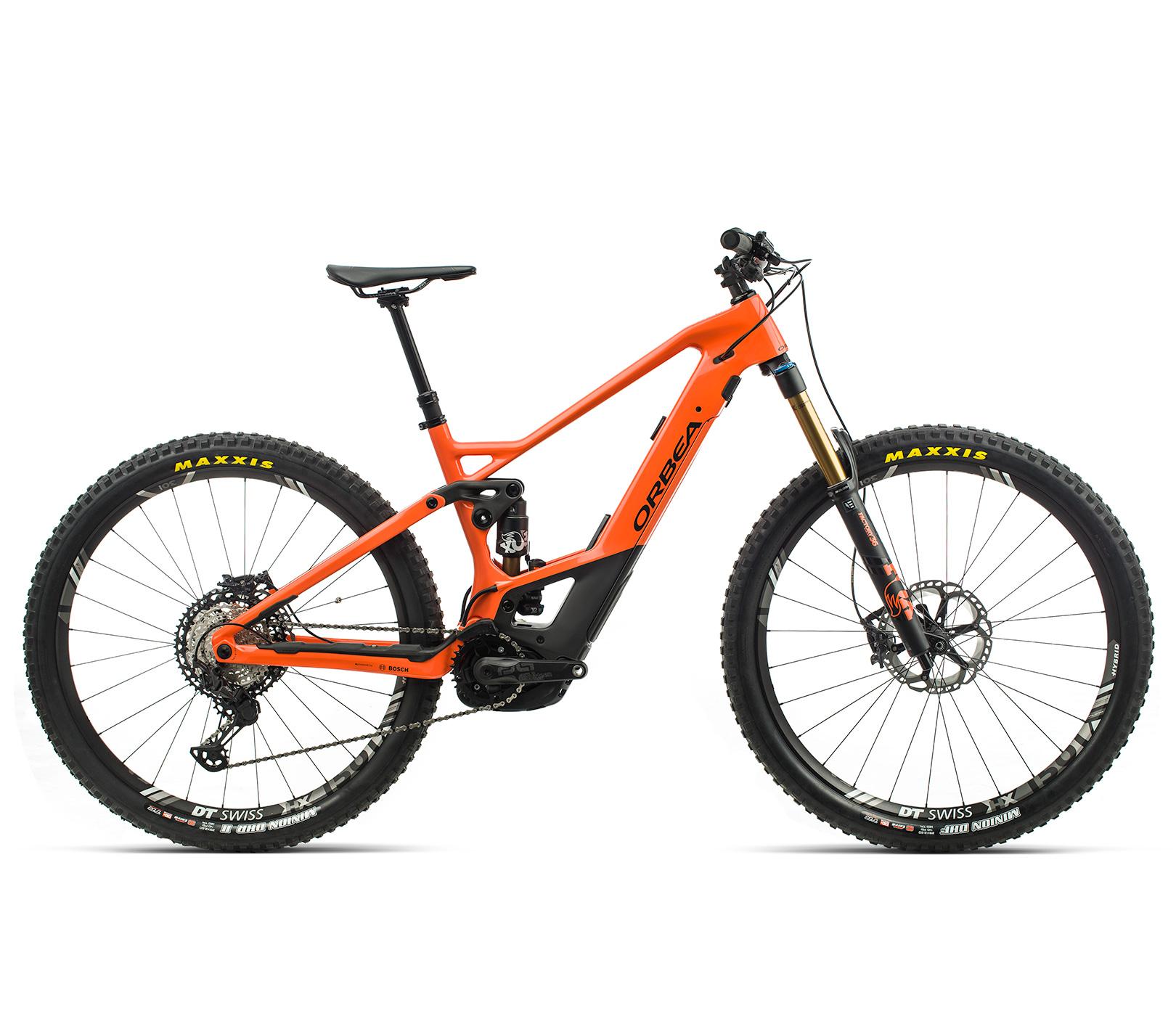 ORBEA WILD FS M-TEAM ebike - ORANJE (GLOSS) / ZWART (DOF) @G-Bikes