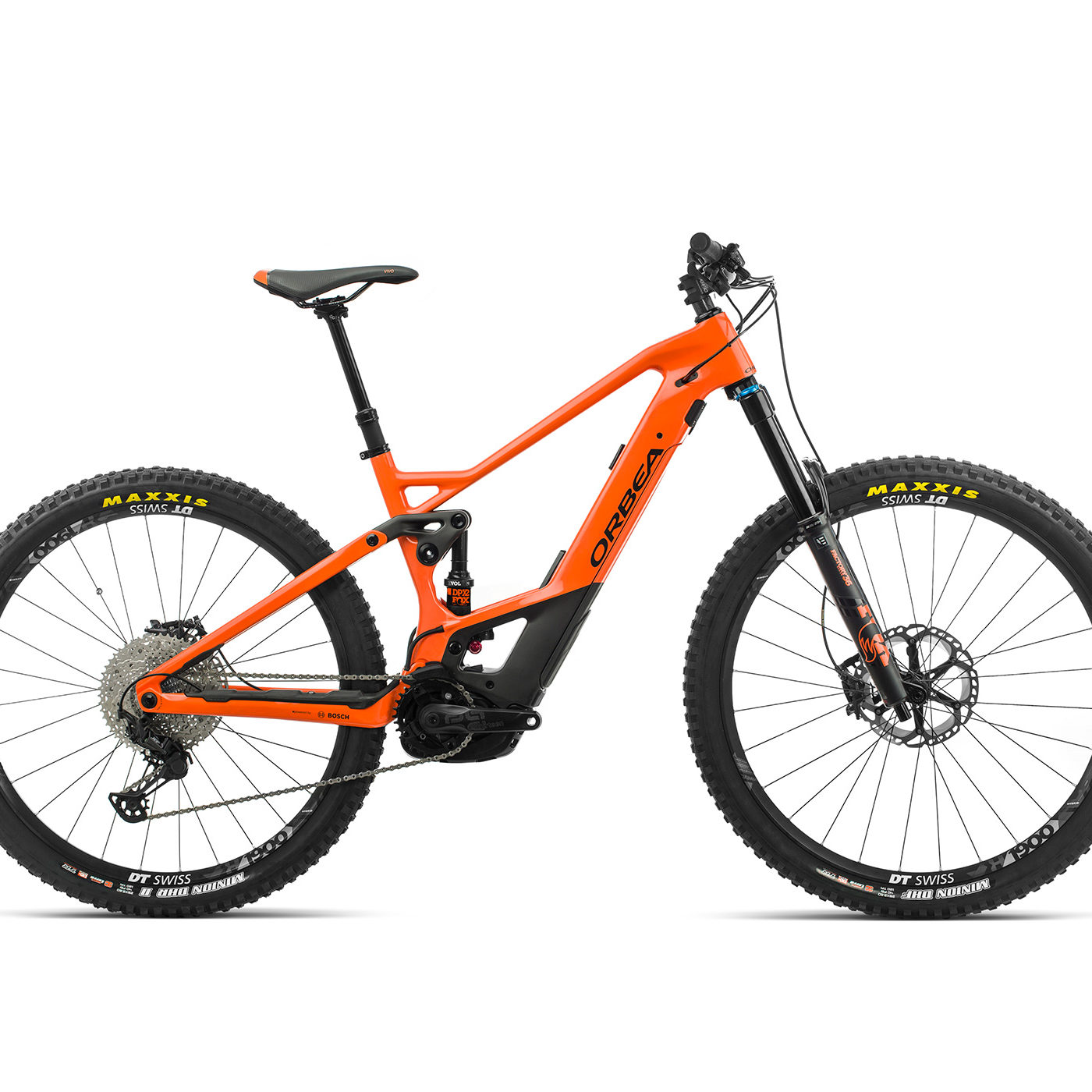 ORBEA WILD FS M10 ebike - ORANJE (GLOSS) / ZWART (DOF) @G-Bikes