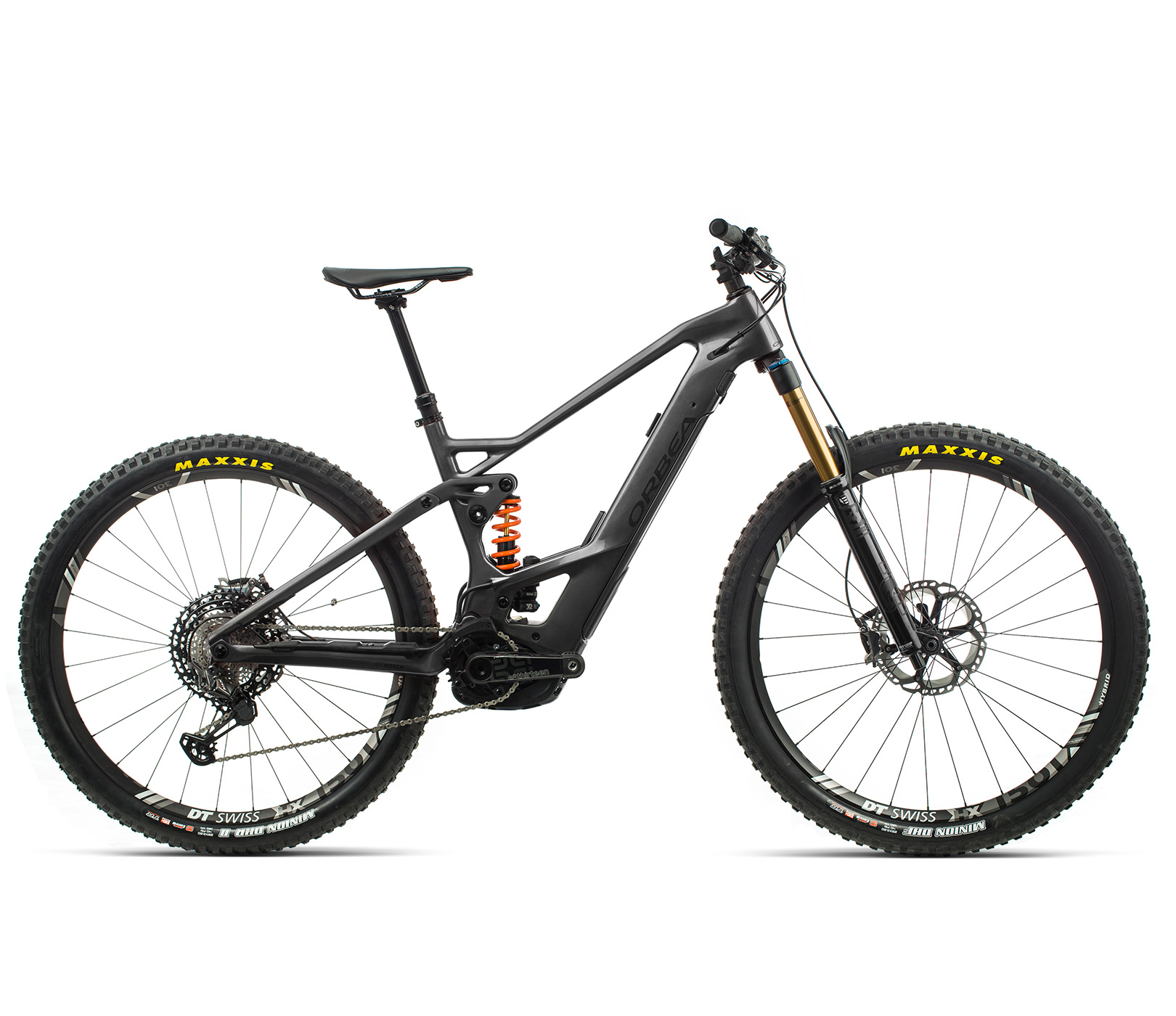 ORBEA WILD FS MLTD ebike - ANTRACIET GLITTER (GLOSS) / ZWART (DOF) @G-Bikes