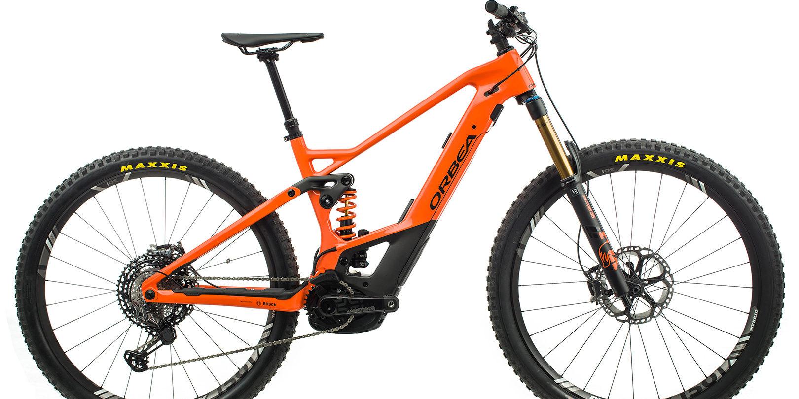 ORBEA WILD FS MLTD ebike - ORANJE (GLOSS) / ZWART (DOF) @G-Bikes