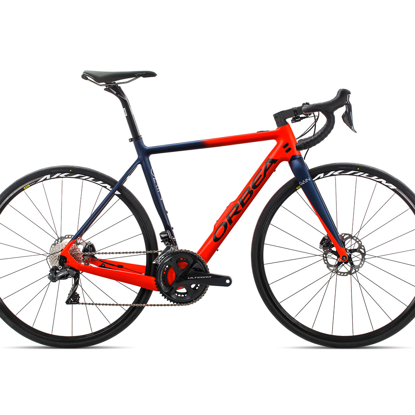 ORBEA GAIN ROAD M20i - BRIGHT RED / MARINEBLAUW MET (DOF)