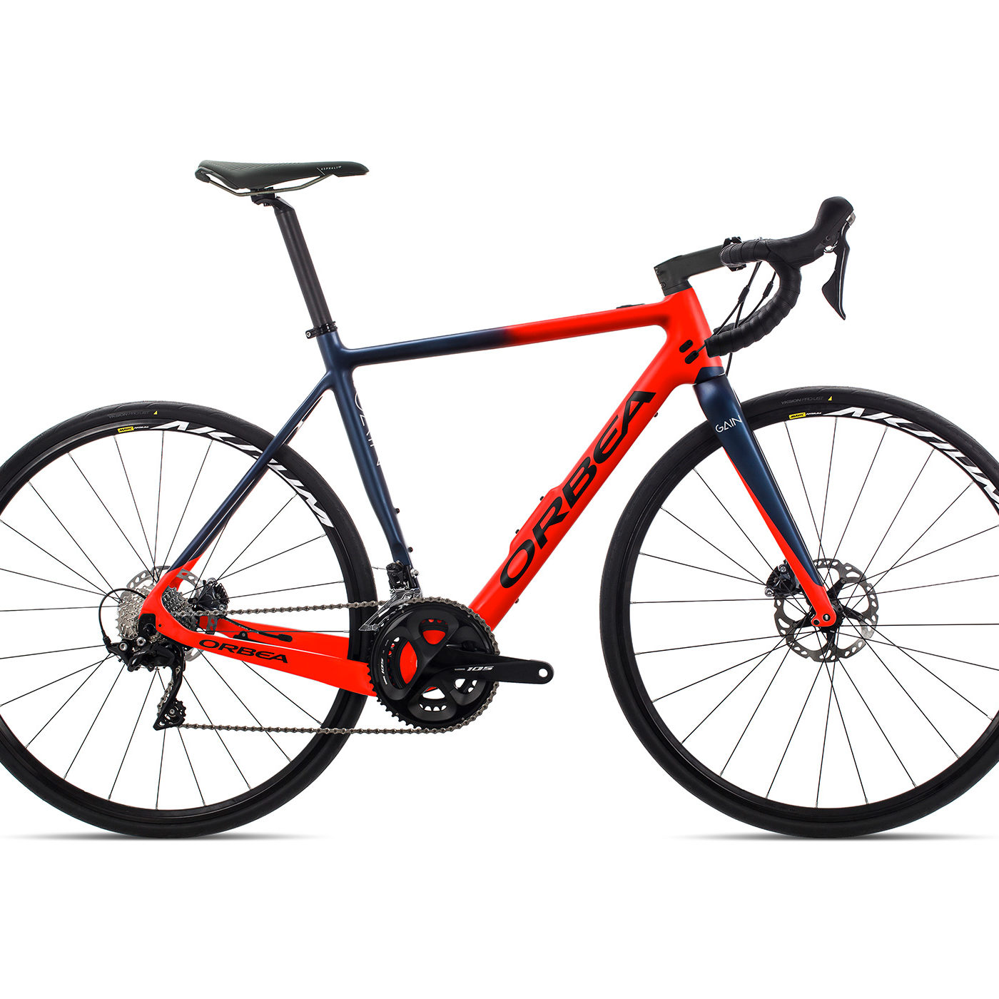 ORBEA GAIN ROAD M30 - BRIGHT RED / MARINEBLAUW MET (DOF)