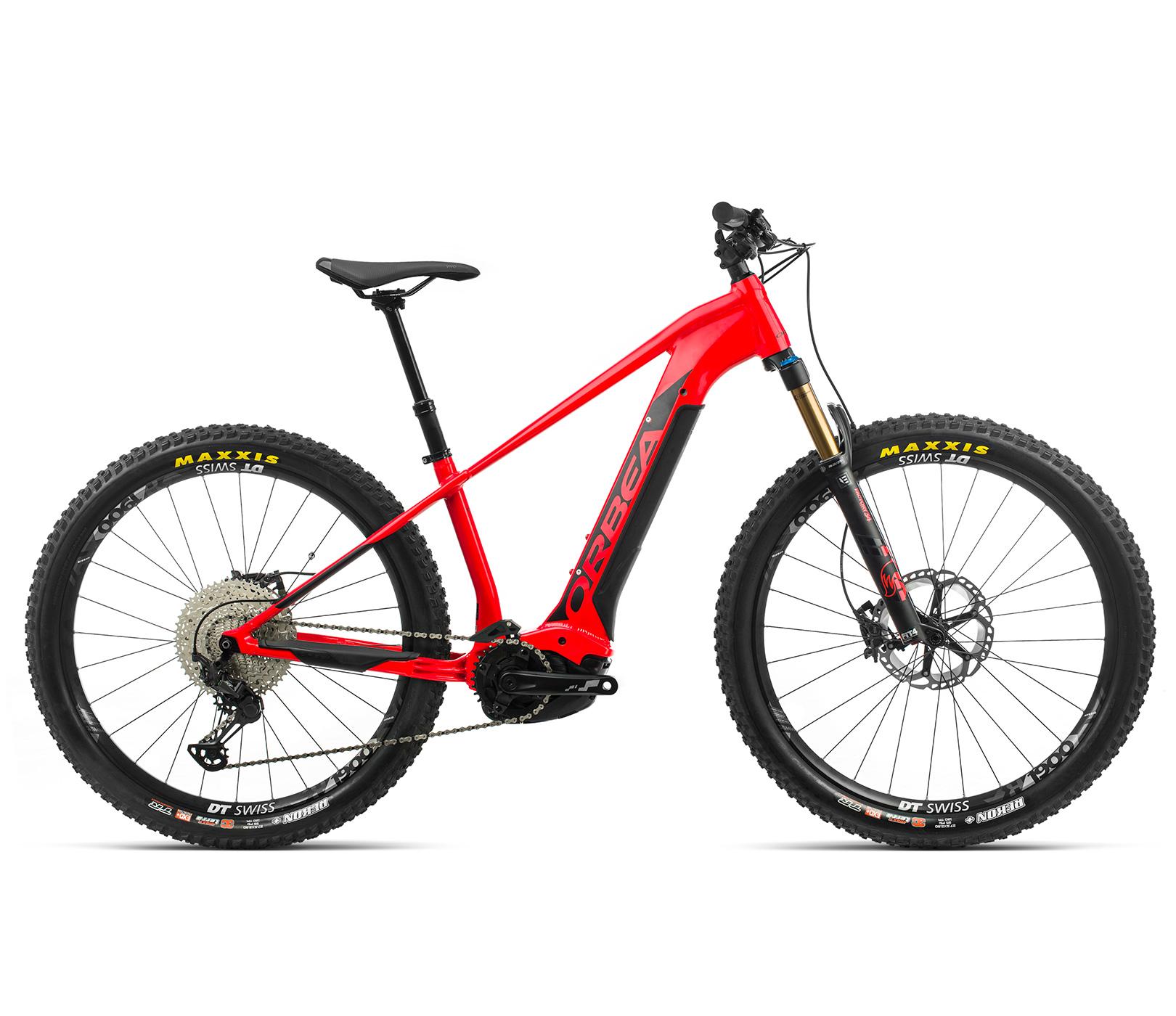 ORBEA WILD HT10 27 ebike - BRIGHT RED (GLOSS) / ZWART (DOF) @G-Bikes