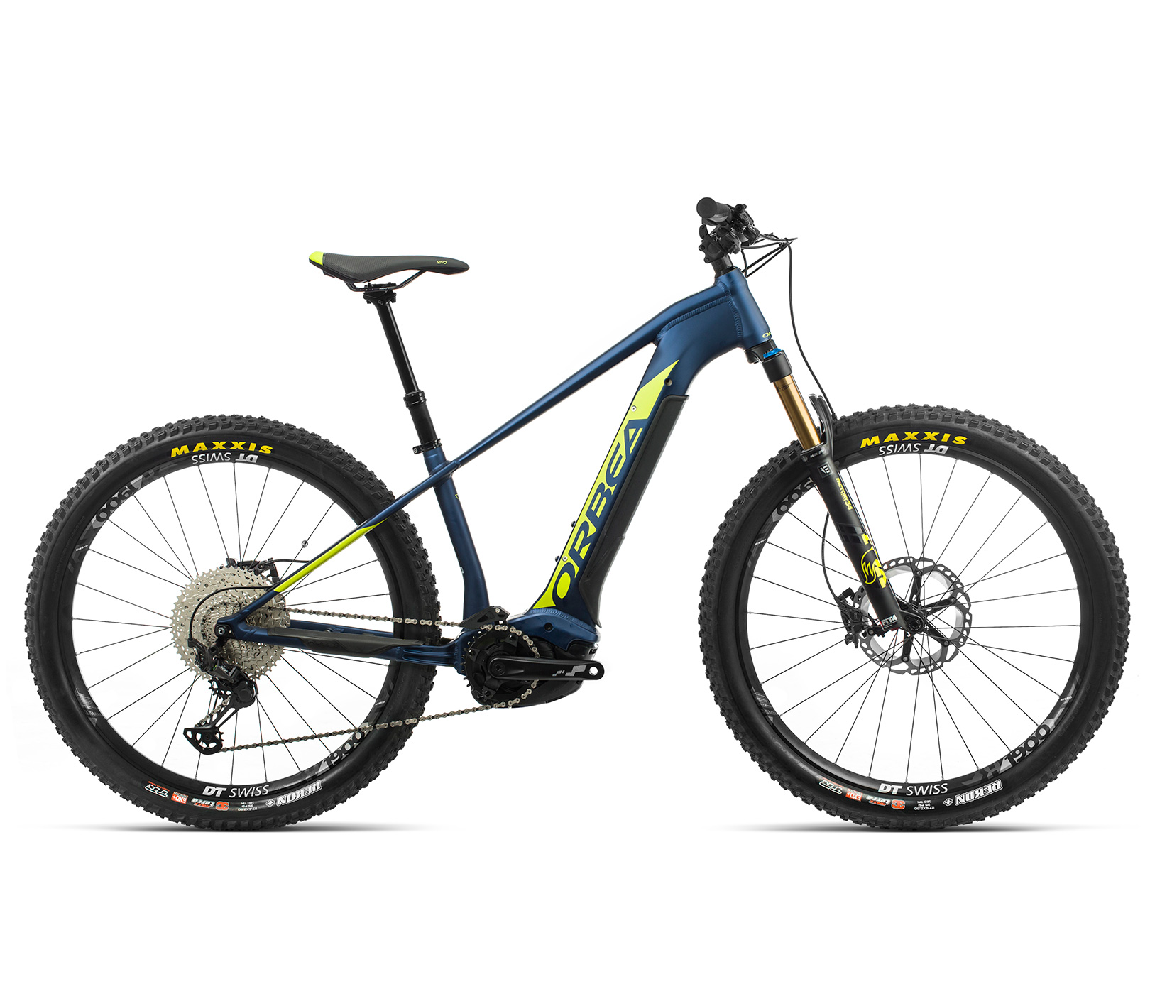 ORBEA WILD HT10 27 ebike - MARINE BLAUW MET / PISTACHE (DOF) @G-Bikes