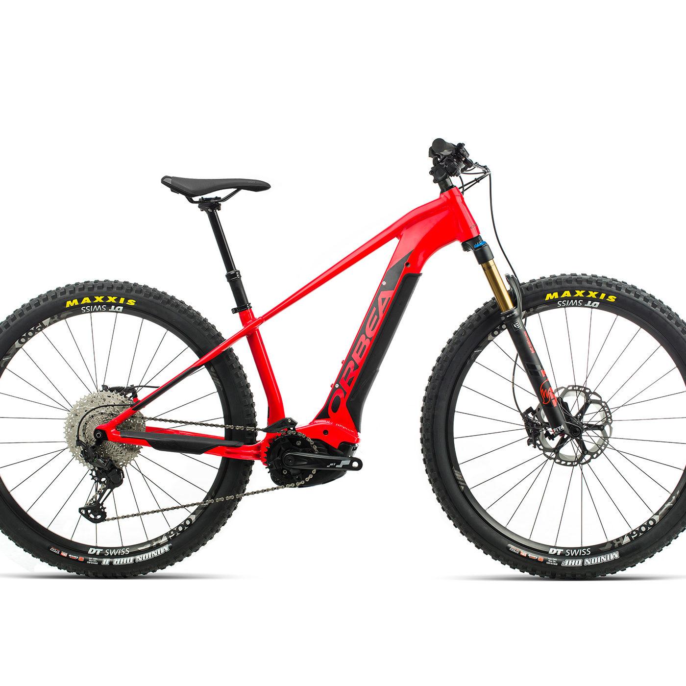 ORBEA WILD HT10 29 ebike - BRIGHT RED (GLOSS) / ZWART (DOF) @G-Bikes