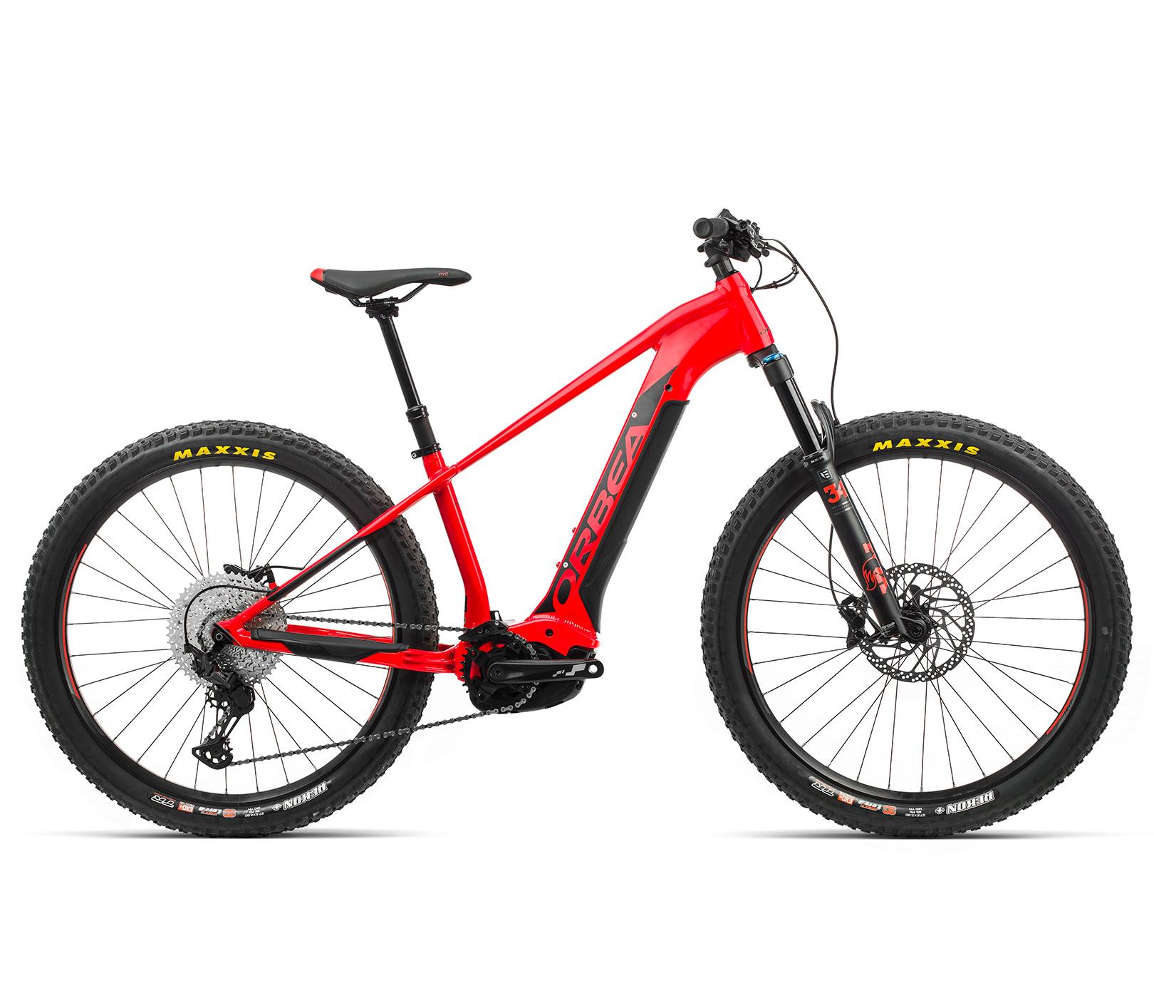 ORBEA WILD HT20 27 ebike - BRIGHT RED (GLOSS) / ZWART (DOF) @G-Bikes
