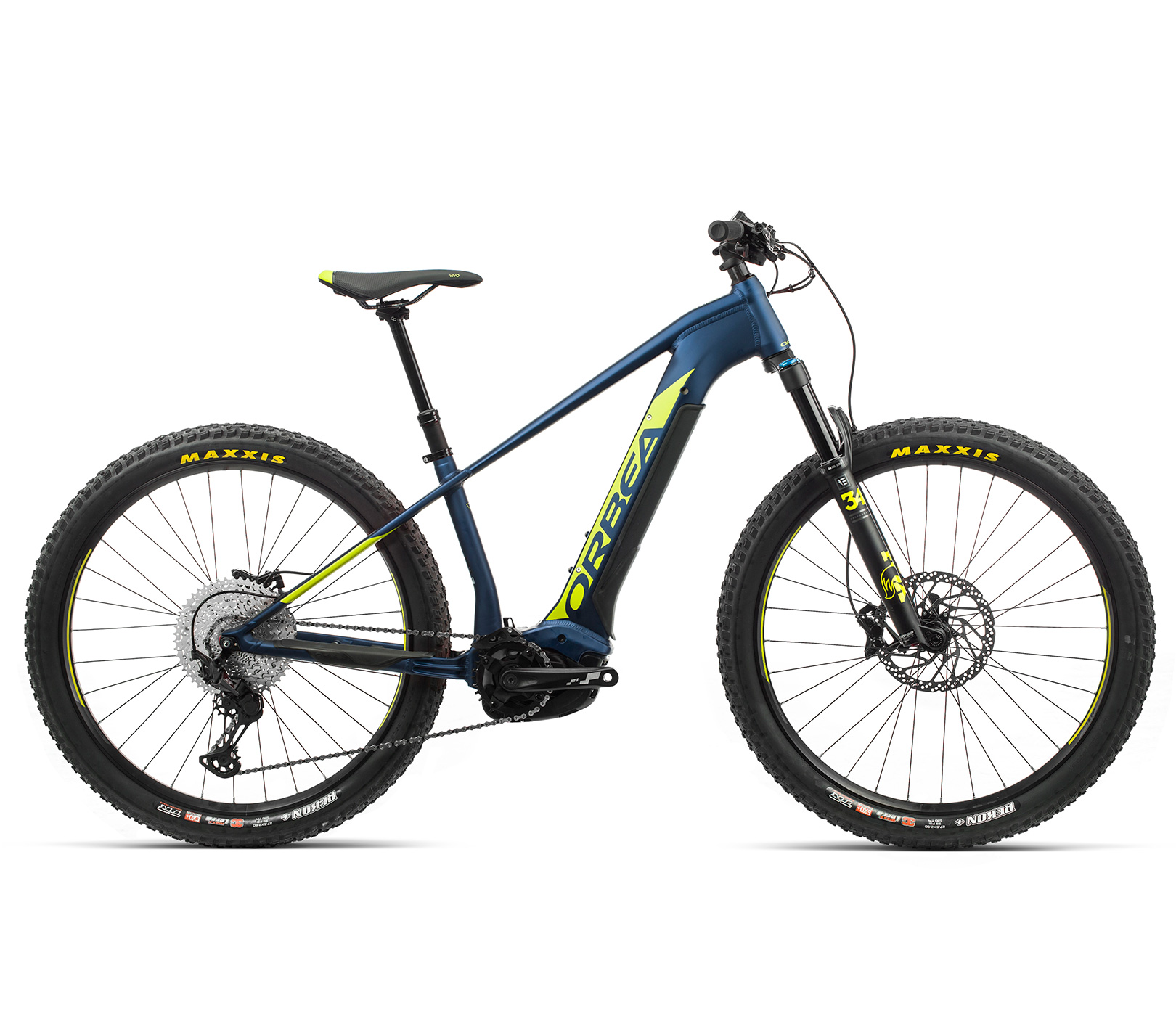 ORBEA WILD HT20 27 ebike - MARINE BLAUW MET / PISTACHE (DOF) @G-Bikes