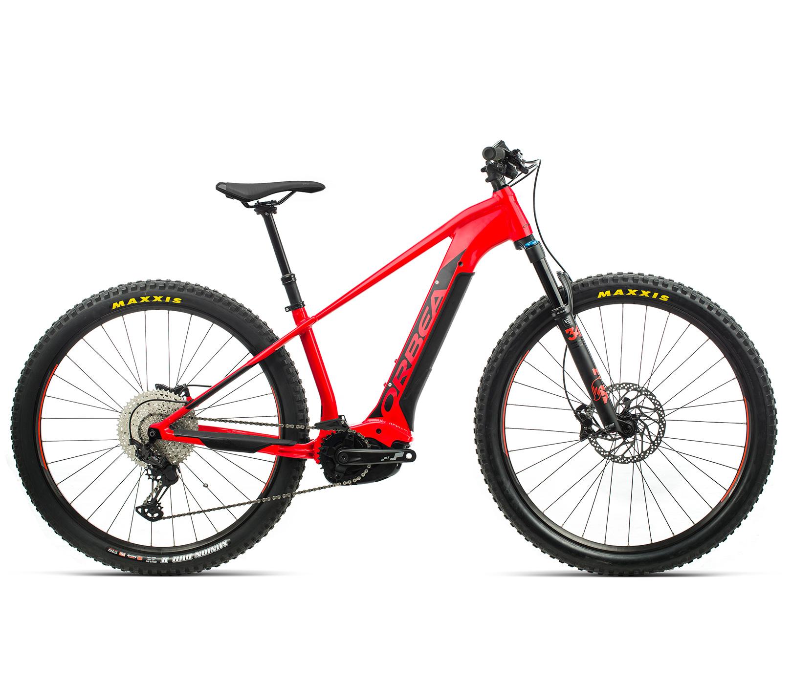 ORBEA WILD HT20 29 ebike - BRIGHT RED (GLOSS) / ZWART (DOF) @G-Bikes