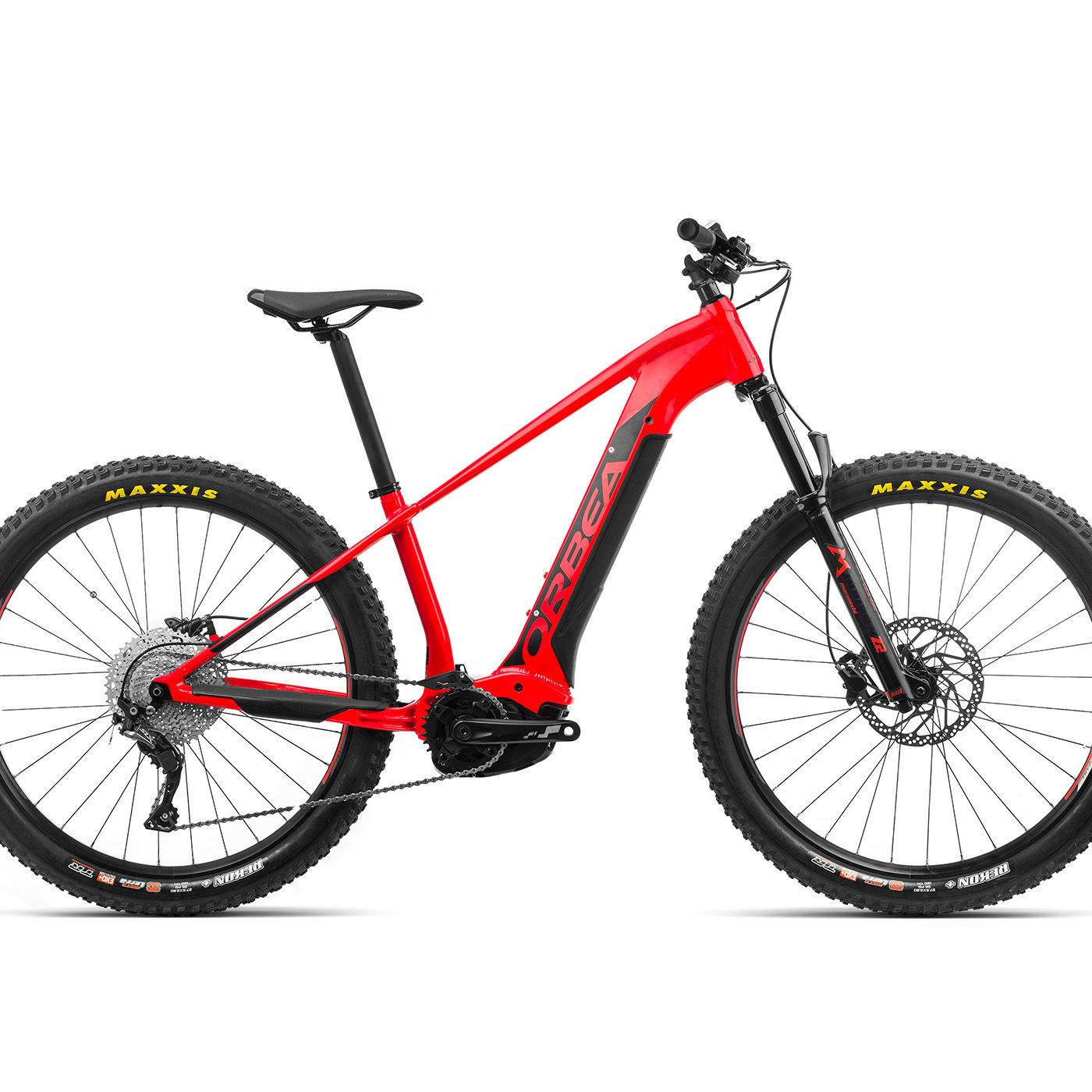 ORBEA WILD HT30 27 ebike - BRIGHT RED (GLOSS) / ZWART (DOF) @G-Bikes