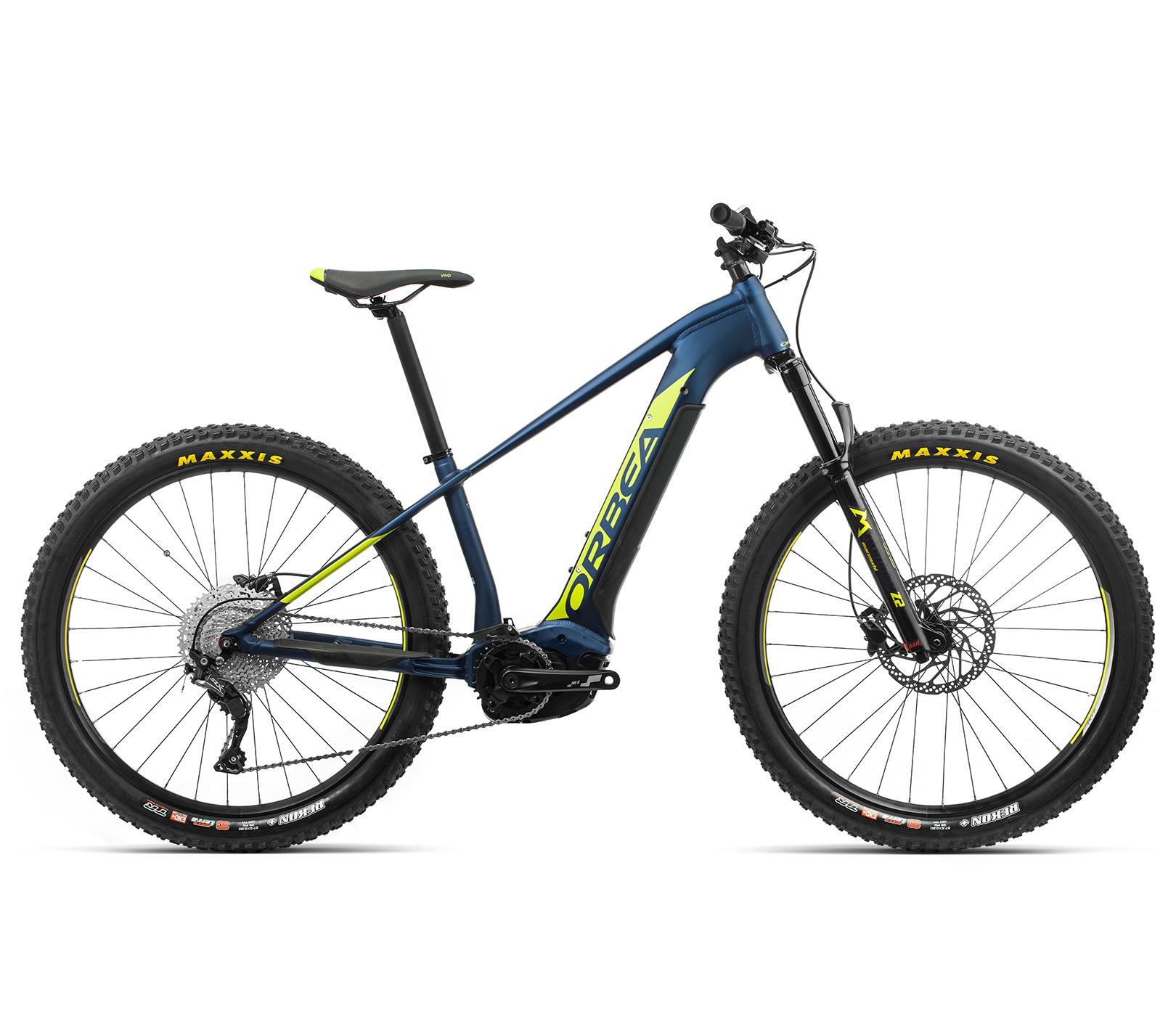 ORBEA WILD HT30 27 ebike - MARINE BLAUW MET / PISTACHE (DOF) @G-Bikes