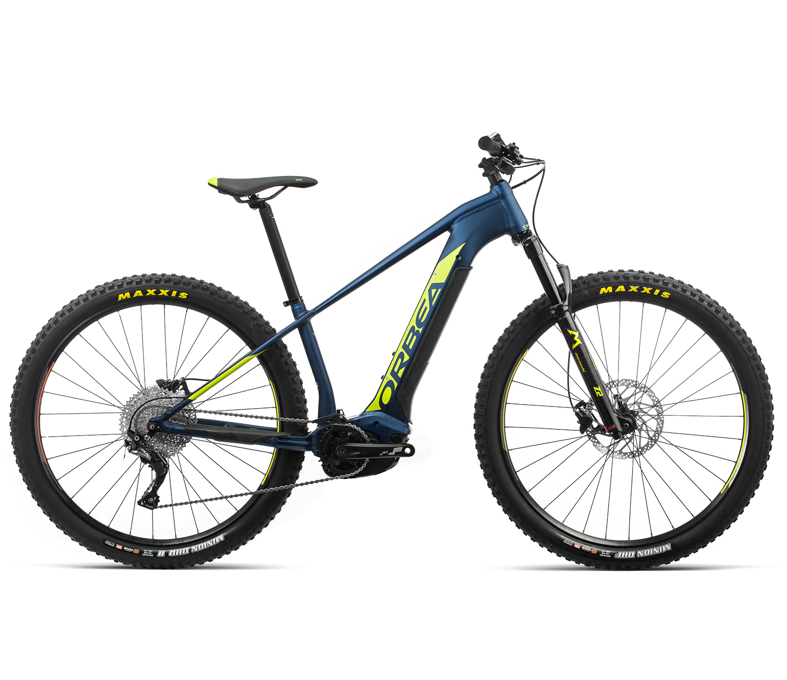 ORBEA WILD HT30 29 ebike - MARINE BLAUW MET / PISTACHE (DOF) @G-Bikes