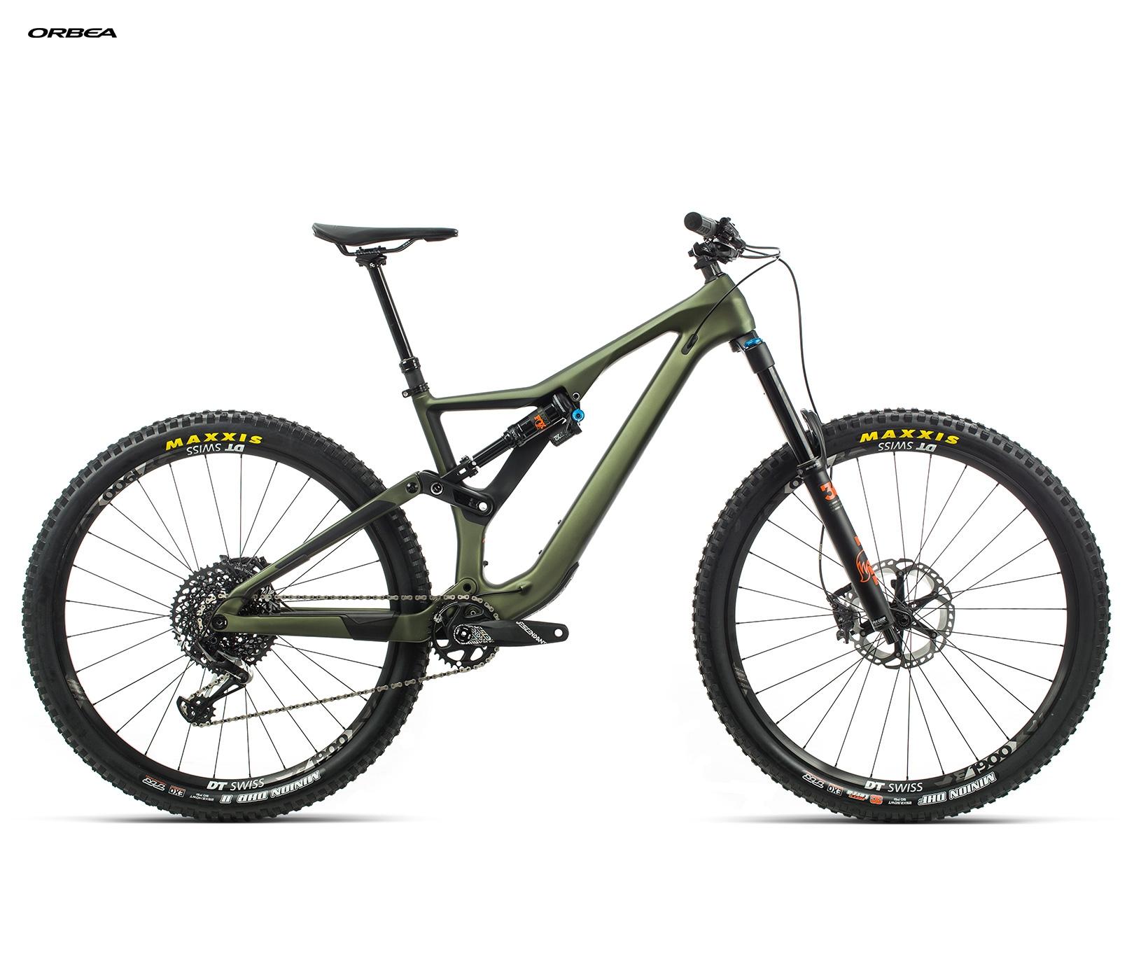 ORBEA RALLON M10 - GROEN (DOF) / ORANJE (GLOSS) @G-Bikes