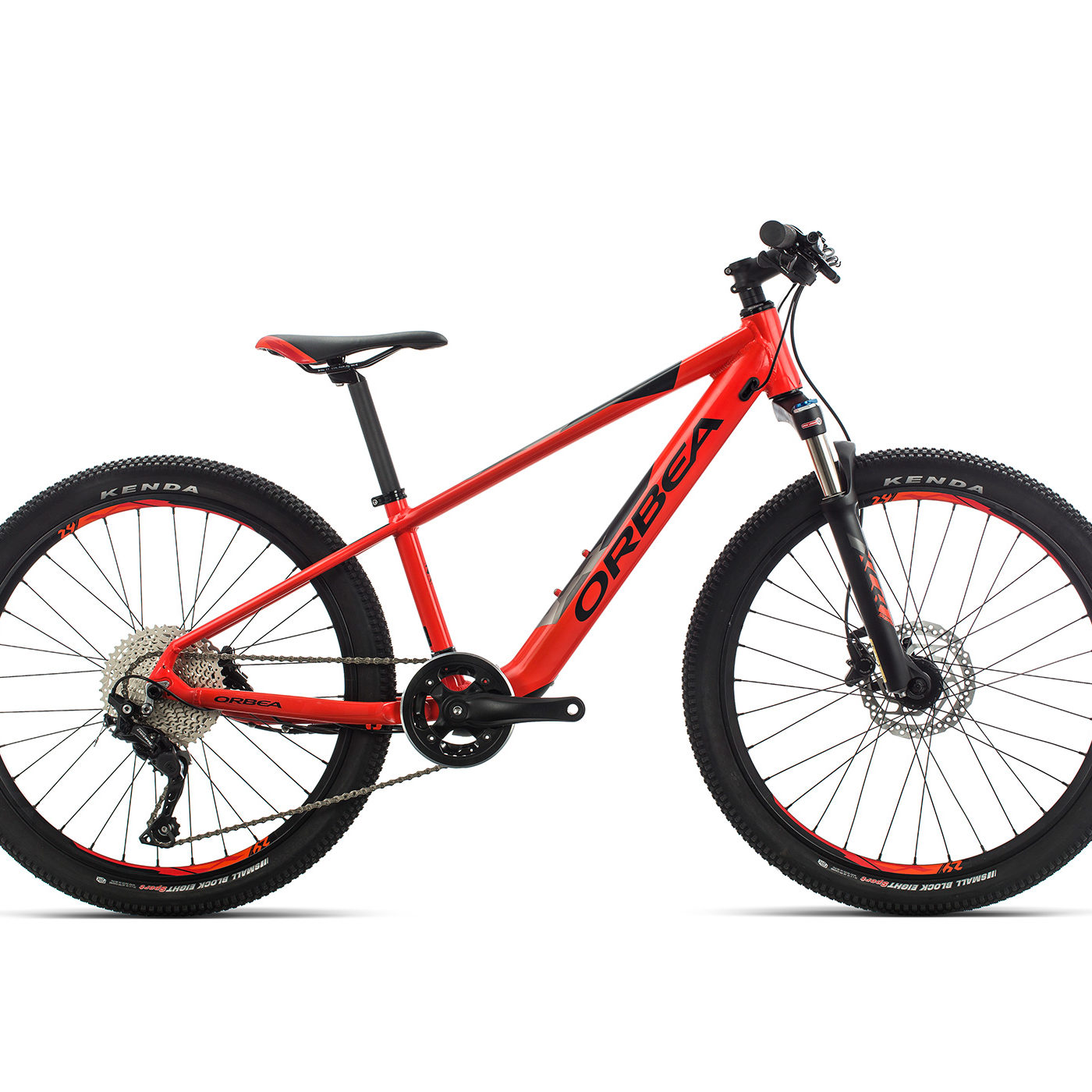 ORBEA E-MX 24 KIDS EBIKE BRIGHT RED GLOSS ZWART MAT