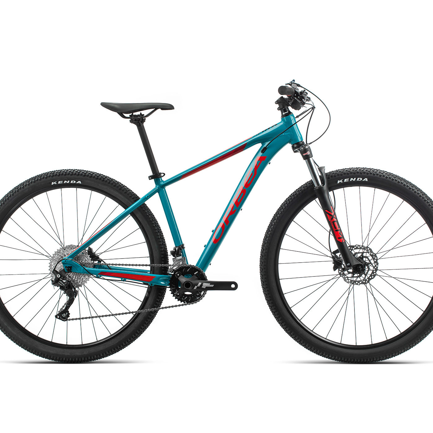 ORBEA MX 30 - BLAUW BONDI / BRIGHT RED (GLOSS)