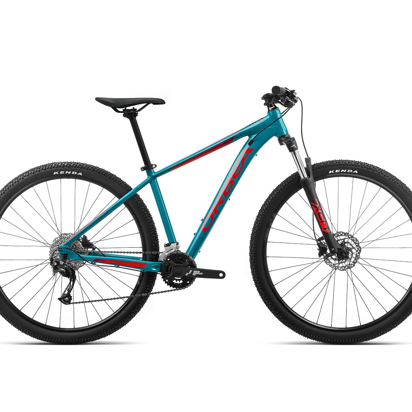 ORBEA MX 40 - BLAUW BONDI / BRIGHT RED (GLOSS)