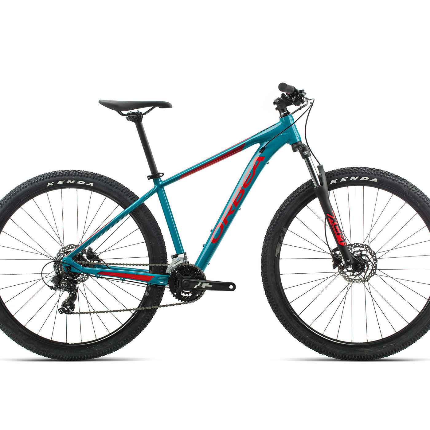 ORBEA MX 50 - BLAUW BONDI / BRIGHT RED (GLOSS)