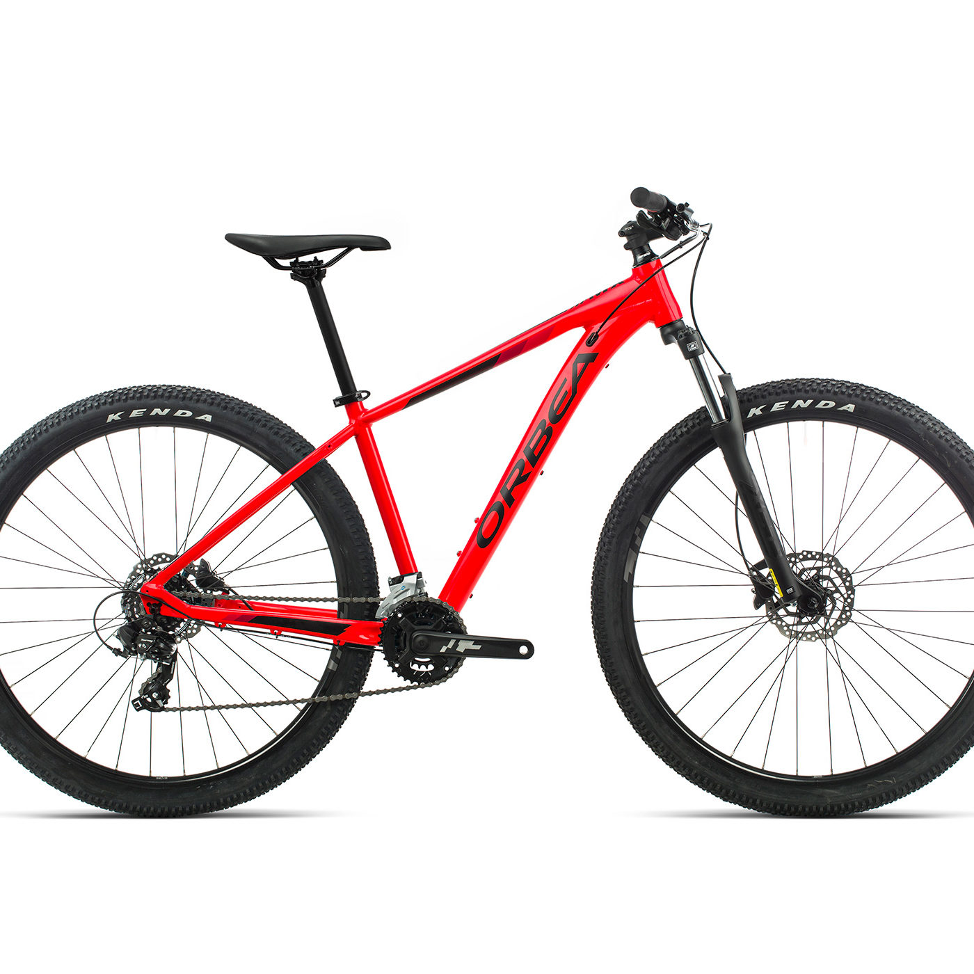 ORBEA MX 50 - BRIGHT RED (GLOSS) / ZWART (MAT)