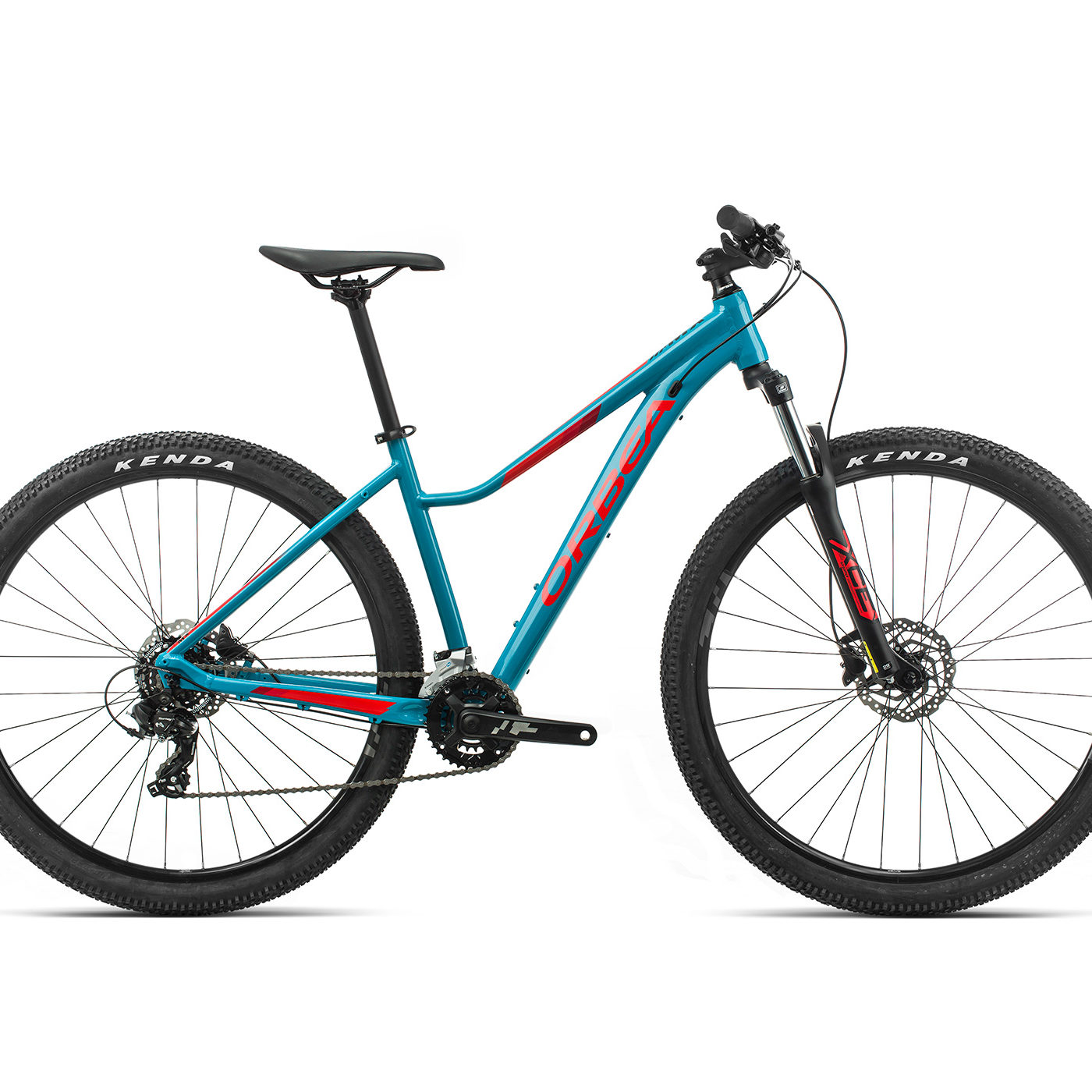 ORBEA MX ENT 50 - BLAUW BONDI / BRIGHT RED (GLOSS)