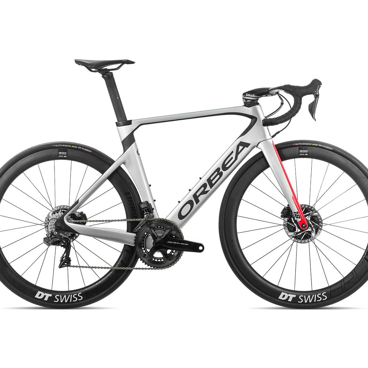 ORBEA ORCA AERO M10iTEAM-D - ZILVER-BRIGHT RED (GLOSS) / CARBON (DOF)