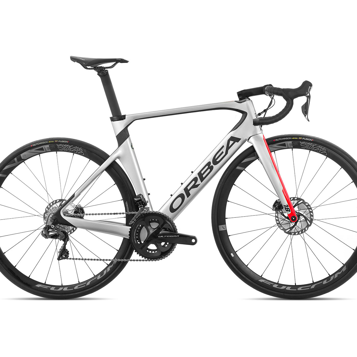 ORBEA ORCA AERO M20iTEAM-D - ZILVER-BRIGHT RED (GLOSS) / CARBON (DOF)