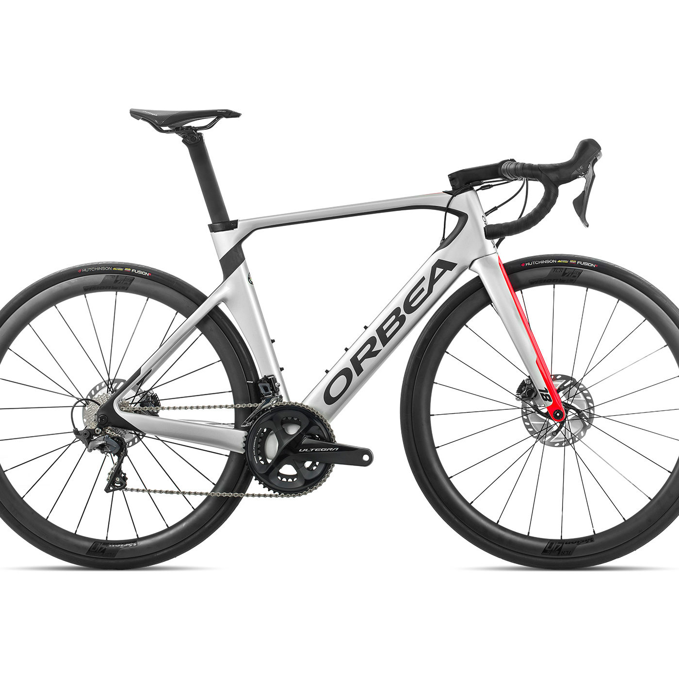 ORBEA ORCA AERO M25TEAM-D - ZILVER-BRIGHT RED (GLOSS) / CARBON (DOF)