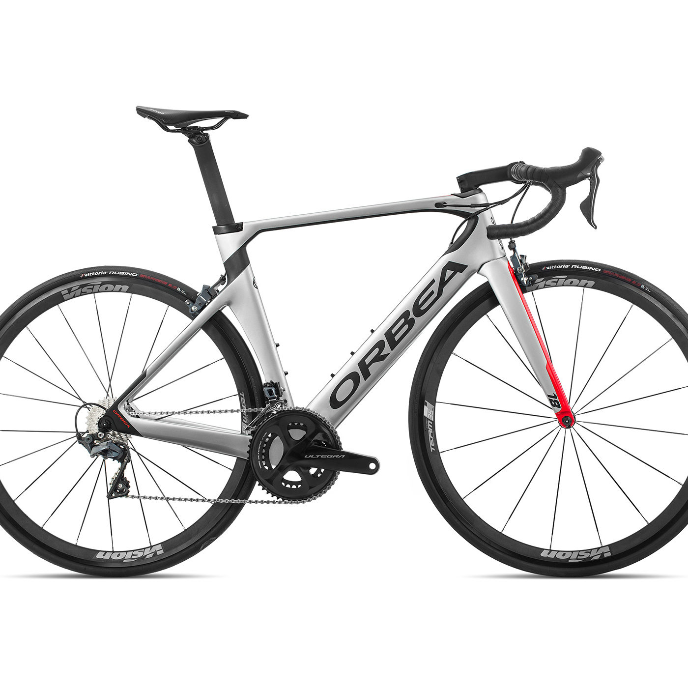 ORBEA ORCA AERO M20TEAM - ZILVER-BRIGHT RED (GLOSS) / CARBON (DOF)