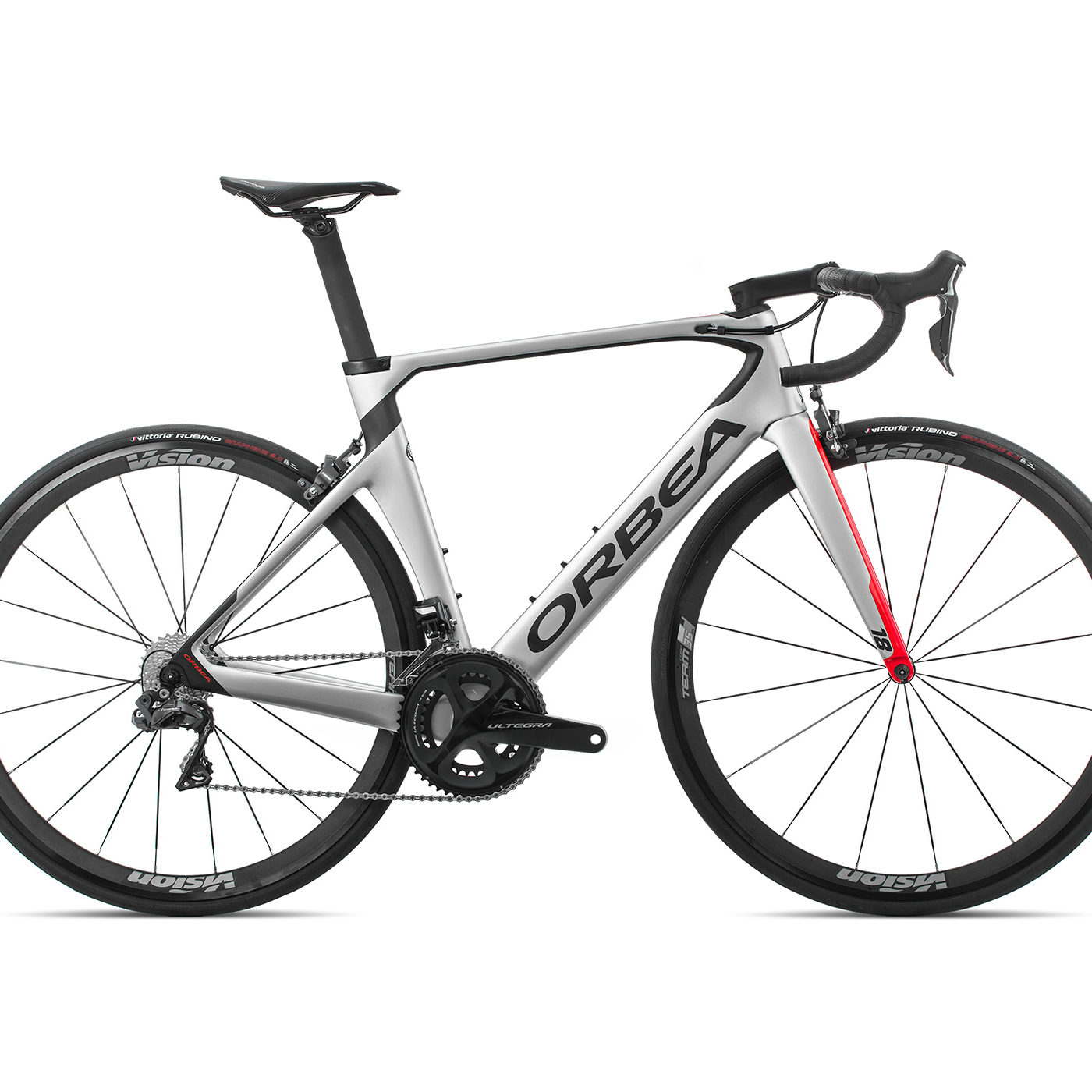 ORBEA ORCA AERO M20iTEAM - ZILVER-BRIGHT RED (GLOSS) / CARBON (DOF)