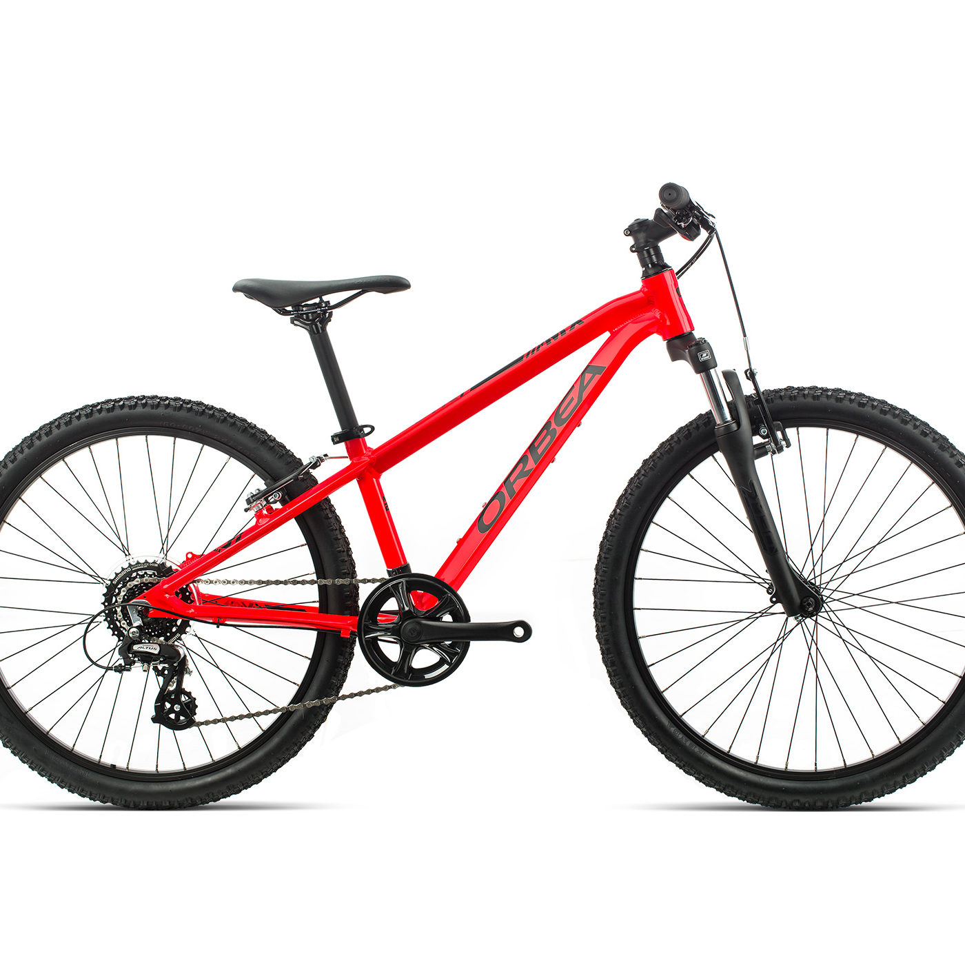 ORBEA MX 24 XC - BRIGHT RED ZWART (GLOSS)