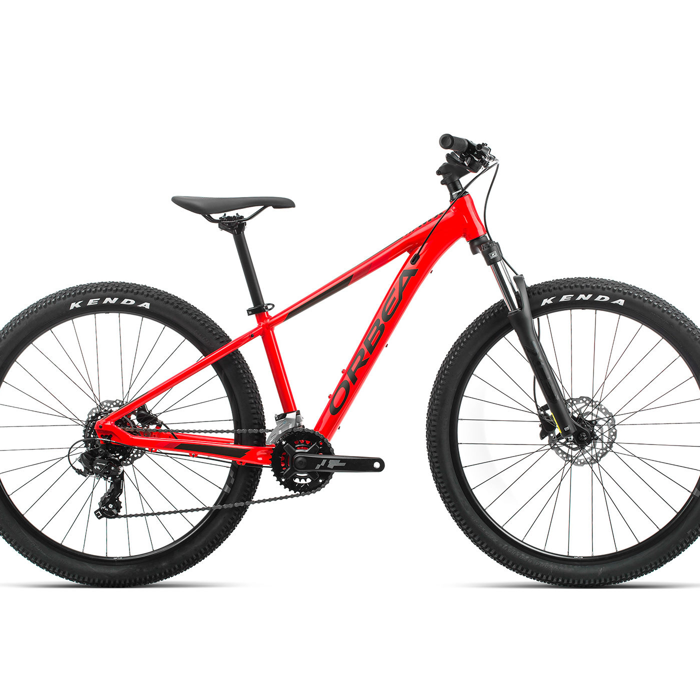 ORBEA MX 27 XS XC - BRIGHT RED ZWART (GLOSS)